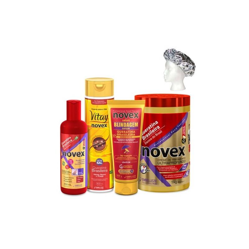 Novex Pack ahorro Queratina Brasileña cauterización 5 productos 1,75 l