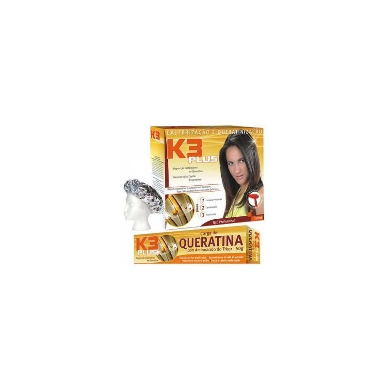 Carga de keratina K3 Plus con aminoácidos de trigo 50g