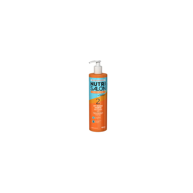 Nutri salon argan oil Anti-residue shampoo (2) Embelleze 500 ml