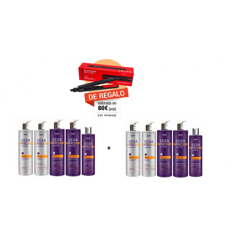 Super Pack de 2 Kits + Plancha Kerapro Advanced Ahorro  (4,3 litro) + FHI