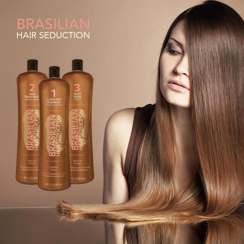 Kit Alisado Brasileño  BRAZILIAN HAIR SEDUCTION 3 X 1 L