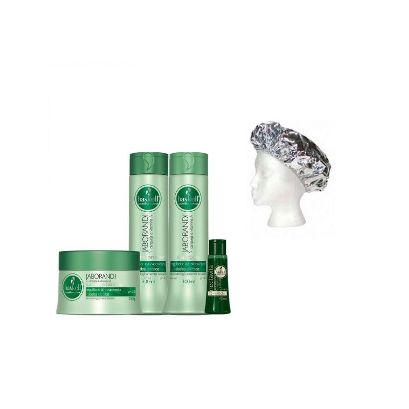 Pack tratamiento Haskell Jaborandi cabellos grasos 5 productos