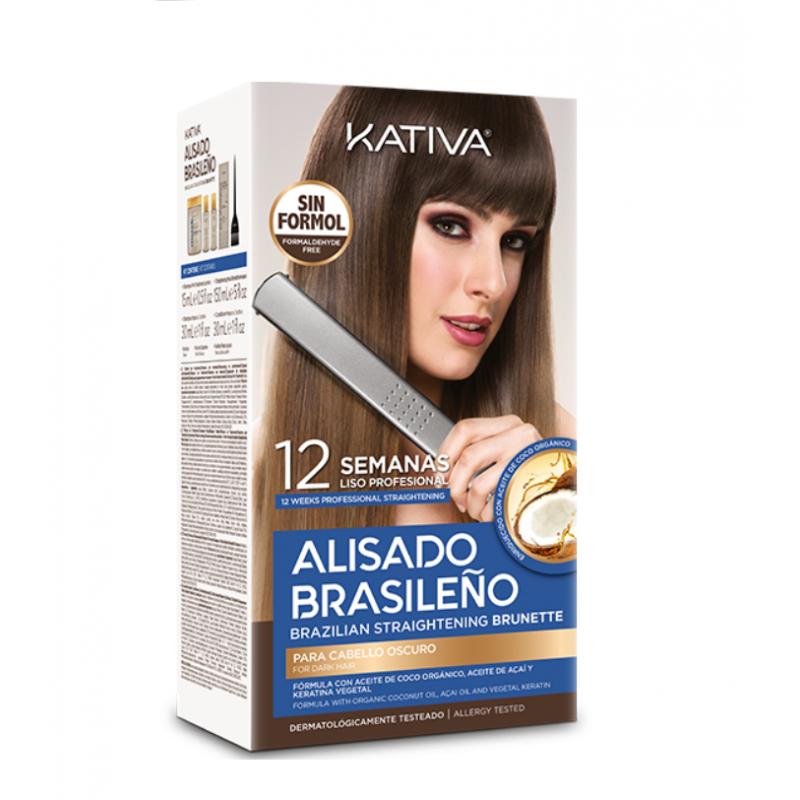 Kit Alisado Brasileño Kativa Brunette